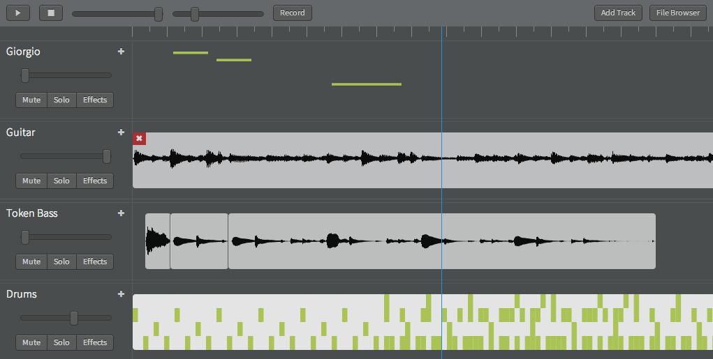 Building a collaborative audio editor based on the Web Audio API